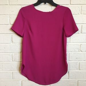Pink Rose short sleeve blouse